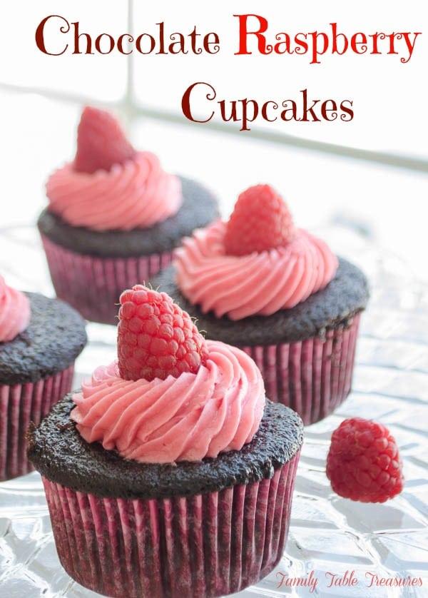 Chocolate Raspberry Cupcakes {with Chambord Ganache Filling}