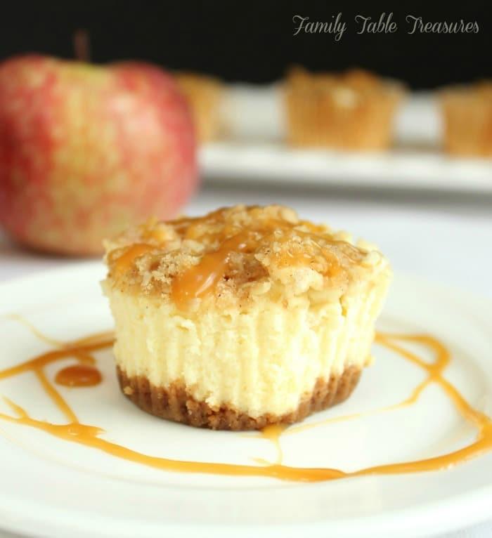 Caramel Apple Cheesecake Cupcakes