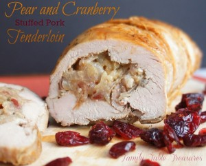 {Pear and Cranberry} Stuffed Pork Tenderloin Recipe