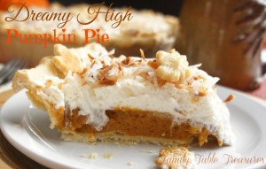 {Dreamy High} Pumpkin Pie