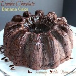 {Double} Chocolate Banana Cake {with Coconut Milk Ganache