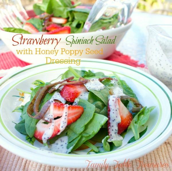 Strawberry Spinach Salad {with Honey Poppy Seed Dressing ...