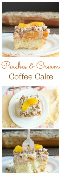 Peaches & Cream Coffee Cake