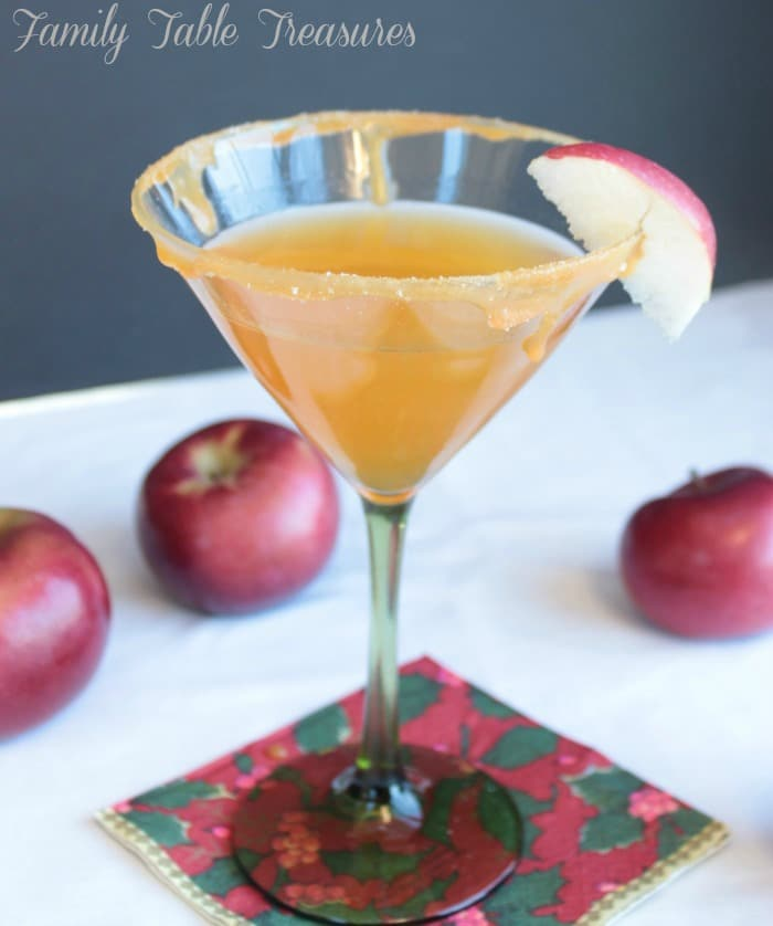 Attractive Salted Caramel Apple Martini