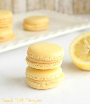 Lemon Macarons with Lemon Curd Filling